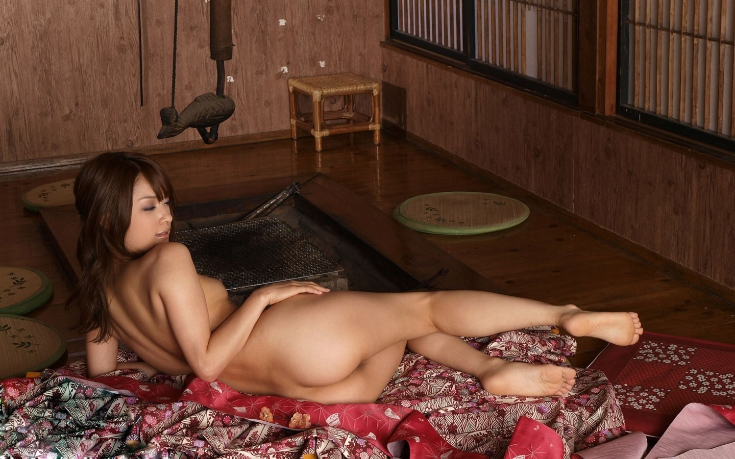 image Cute butt kimono girl uncensored jav